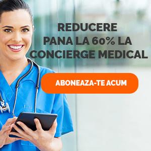 banner promotional cu reducere de 60 la suta pentru concierge medical